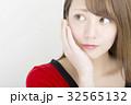 ビューティ 日本人女性 考える 方杖 32565132