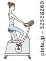 筋トレ 女性 トレーニングのイラスト 32568269