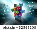フォン 電話 マップのイラスト 32569208