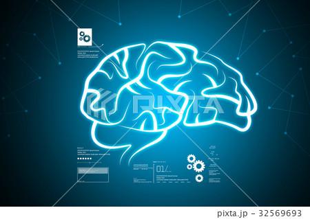 Human brain structureのイラスト素材 [32569693] - PIXTA