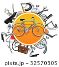 Vector Bicycle Spares Concept with Bike 32570305