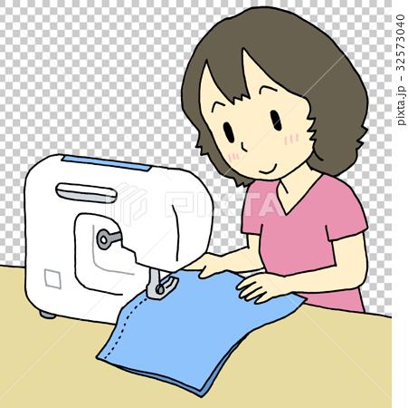 縫紉女人 32573040