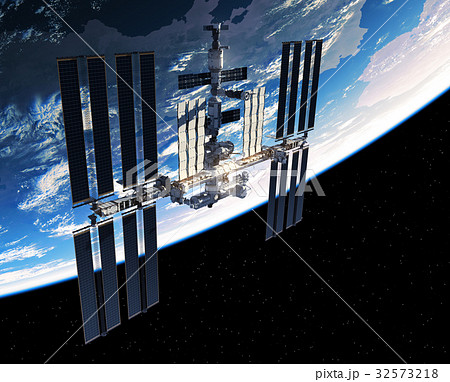 International Space Station Orbiting Planet Earth 32573218