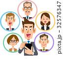ビジネス スマートフォン ソーシャルネットワーク 笑顔 32576347