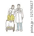介護 老人 人物のイラスト 32578827