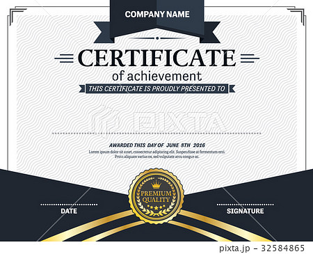 diploma certificate template vector illustrationのイラスト素材
