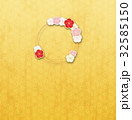 フレーム 輪 梅のイラスト 32585150