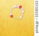 フレーム 輪 梅のイラスト 32585152