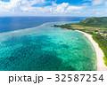 石垣島北部の海 空撮 32587254