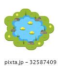 池 ベクトル 庭のイラスト 32587409