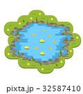 池 サカナ 魚のイラスト 32587410