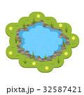 池 ベクトル 庭のイラスト 32587421