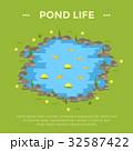 池 サカナ 魚のイラスト 32587422