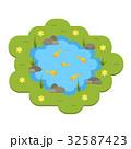池 サカナ 魚のイラスト 32587423