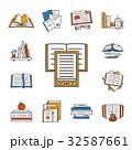 書籍 アイコン セットのイラスト 32587661