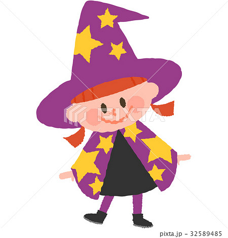ハロウィンの仮装をした女の子 32589485