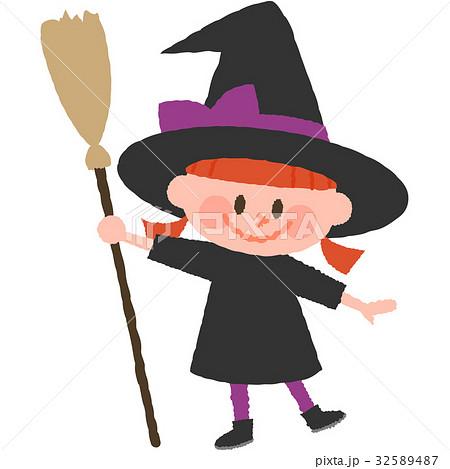 ハロウィンの仮装をした女の子 32589487