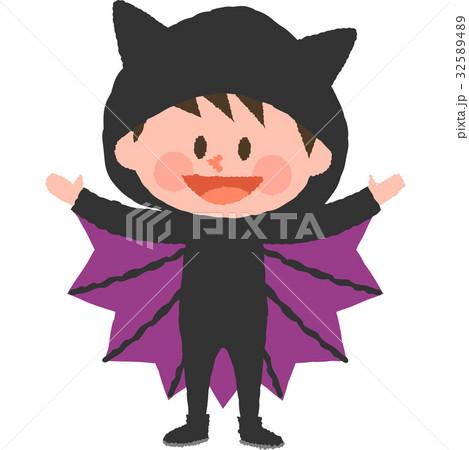 ハロウィンの仮装をした男の子 32589489