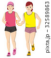 視覚障害者マラソン女性 32589863