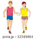 視覚障害者マラソン男女 32589864
