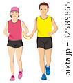 視覚障害者マラソン男女 32589865