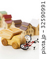 交通事故 自転車 車 自動車 街 町 住宅街 32590991