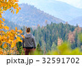 Tourist hiking in Sequoia National Park at autumn 32591702