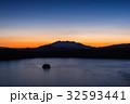 摩周湖 朝焼け 夜明けの写真 32593441