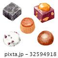 和菓子 スイーツ 食べ物のイラスト 32594918