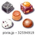 和菓子 スイーツ 食べ物のイラスト 32594919