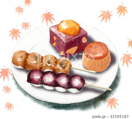秋の和菓子セット 32595187