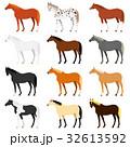 馬の毛色いろいろ 32613592