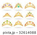 Princess golden tiaras with diamonds 32614088