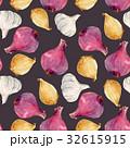 玉葱 柄 シームレスのイラスト 32615915