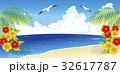 砂浜 夏 海のイラスト 32617787