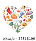 ハート ハートマーク 心臓のイラスト 32618199