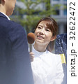 報道 リポーター 取材の写真 32622472