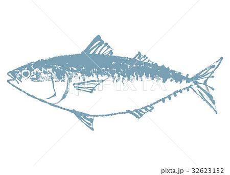 さば 鯖 水彩画 32623132