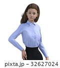 ポーズするビジネスウェアの女性 ビジネスウーマン perming3DCGイラスト素材 32627024