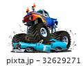 Vector Cartoon Monster Truck 32629271