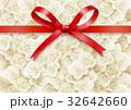 リボン 背景素材 薔薇のイラスト 32642660