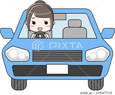 車を運転するスーツの女性 32647510