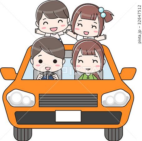 車に乗っている家族 32647512