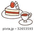 ショートケーキと紅茶 32653593