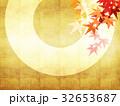 背景 和柄 紅葉のイラスト 32653687