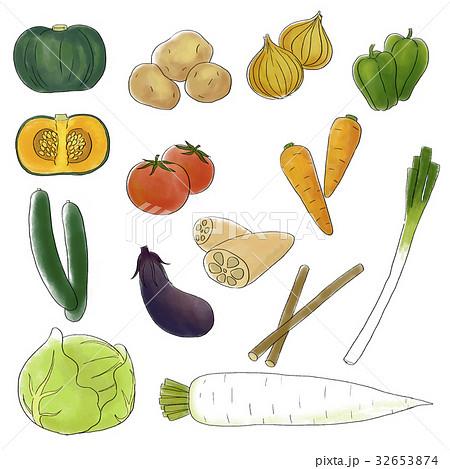野菜のカットイラスト 32653874