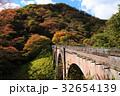 めがね橋 紅葉 廃線の写真 32654139