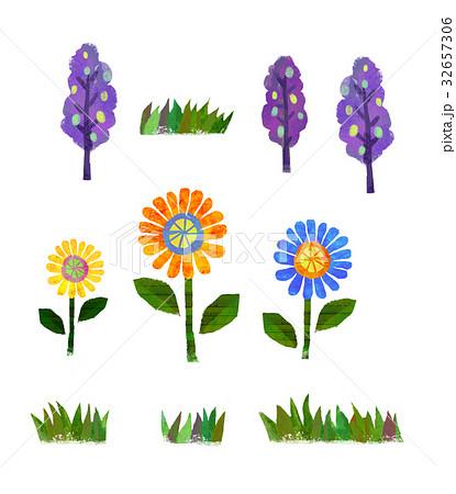 花 かわいい イラストのイラスト素材 32657306 Pixta