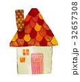 家 赤い 屋根 絵 32657308
