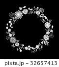 刺しゅう 刺繍 フローラルのイラスト 32657413